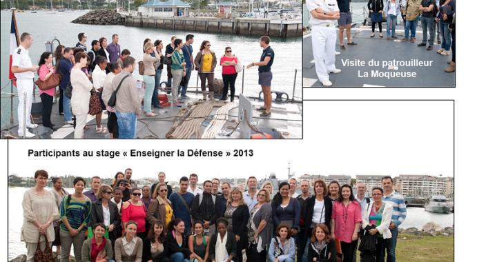 Collage photos Stage Enseigner la Défense 2013