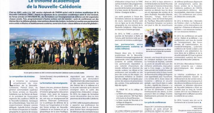 2014 Le TANC dans la Revue Défense